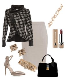 """""""EVE"""" by evelina-er ❤ liked on Polyvore featuring Nine West, Miu Miu, Lanvin and Marc Jacobs"""