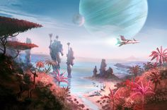 Enjoy The Art of No Man's Sky in a collection of Concept Art made for the game. No Man's Sky is an action-adventure survival video game developed and publi Environment Concept, Environment Design, Fantasy World, Fantasy Art, No Man's Sky Game, Ciel Art, Sky Games, Sean Murray, Free Background Photos