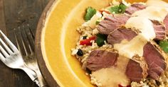 This recipe for garam masala lamb with lemon quinoa pilaf from Legendairy is the perfect winter dish.