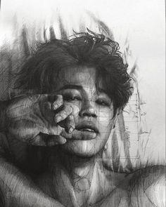 Foto Bts, Bts Photo, Jimin Fanart, Kpop Fanart, Jikook, Bts Jimin, Arte Sketchbook, Bts Aesthetic Pictures, Kpop Drawings