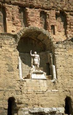 """""""Visiting Roman ruins in France was one of the goals on my husband's list of places to go."""" Marilyn Barnicke Belleghem Read more about Questing France by clicking the picture. #Caesar #questingfrance #truestory #Romanruins"""