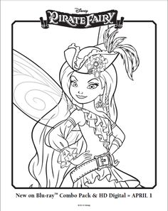Free Tinker Bell and The Pirate Fairy Coloring Pages Picture 5