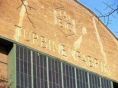 AEG Turbine Factory logo designed by Peter Behrens.