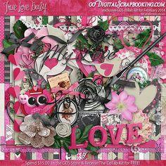 True Love, Baby - February, 2014 Collab Kit at GoDigitalScrapbooking.com