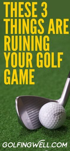 If you're not happy with your golf swing or how you are hitting the golf ball, the answer is not as complicated as you might think. It's likely its these simple things ruining your golf game. Check out these golfing tips and get the downloadable report with 7 shortcuts to instantly improve your golf swing. #golf #golfswing #golftips