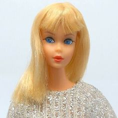 Vintage Dramatic New Living Barbie - Platinum Blonde In Salute To Silver  Dress  | eBay
