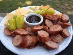 Image result for cheese and sausage platter ideas