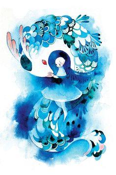 sea dragon via koyamori. Click on the image to see more!