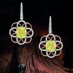 Lot 97 9.22 and 9.19-Carat Natural Fancy Intense Yellow Internally Flawless VS1 Clarity Diamond Earrings  Estimate: HK$3,700,000 - 4,700,000 US$475,000 - 602,000 #exhibition 26 Nov – 3 Dec 2016 #auction 4 Dec 2016; 1pm