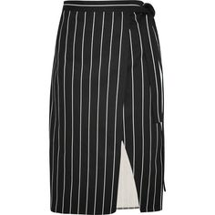 Balenciaga Striped cotton wrap skirt (2,510 PEN) ❤ liked on Polyvore featuring skirts, bottoms, black, asymmetrical hem skirt, cotton wrap skirt, striped skirt, balenciaga and tie-dye skirt
