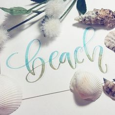 "3,005 Likes, 31 Comments - Modern Lettering & Design (@chrystalizabeth) on Instagram: ""Beach ⛱ Day 29 of #HappyLetteringChallenge with @winterbirdlettering @tjt.design & Me . .…"""