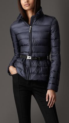 Burberry London Quilted Peplum Jacket