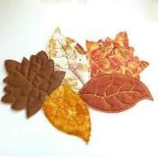 Quilted Pile of Leaves - via @Craftsy