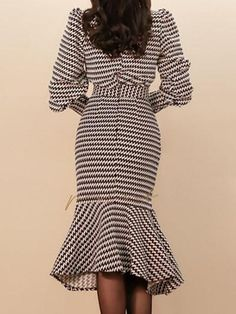 Buy Summer Dresses Midi Dresses For Women from A-THENA at Stylewe. Online Shopping Stylewe Summer Dresses Long Sleeve Casual Dresses Daytime Mermaid Crew Neck Elegant Printed Dresses, The Best Date Midi Dresses. Long Summer Dresses, Daytime Dresses, Casual Dresses, Maxi Dresses, Two Piece Dress Casual, Looks Chic, Winter Stil, Fashion Moda, Emo Fashion
