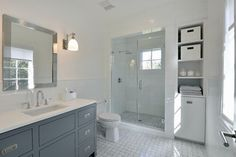 Contemporary Shingle Colonial - transitional - Bathroom - New York - Murphy Brothers Contracting