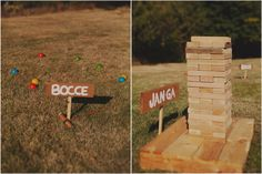 bocce and jenga games at our wedding!!