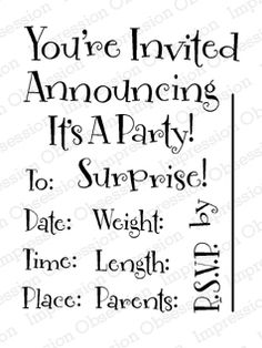 Clear Stamp Sets - Invitations/Announcements