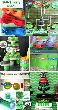 10 Creative Teenage Mutant Ninja Turtle Party Ideas. TMNT party ideas that are sure to impress!