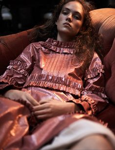 some velvet morning: adrienne jüliger by lachlan bailey for dazed spring / summer 2016 | visual optimism; fashion editorials, shows, campaigns & more!