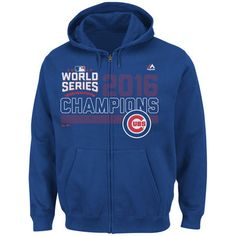 Men's Chicago Cubs Majestic Royal 2016 World Series Champions Fierce Favorite Full-Zip Hoodie