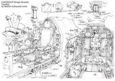 Art of Makoto Kobayashi. This is a fan page dedicated to Makoto Kobayashi and his amazing art.I'm NOT Kobayashi. Last Exile, Comic Manga, Manga Mania, Steampunk Design, Mechanical Design, Environment Concept Art, Map Design, Environmental Art, Dieselpunk