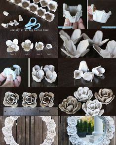 How to Make Paper Daffodils – Flower Crafts - blumen basteln Egg Carton Art, Egg Carton Crafts, Egg Crafts, Diy Home Crafts, Diy Arts And Crafts, Egg Cartons, Paper Flowers Craft, Flower Crafts, Diy Flowers