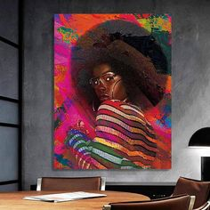 African-American Woman Vector Beauty Woman, African Art, Canvas decoration for living room, Housewarming Gift, Black Woman Art Canvas Poster, Canvas Art, Nirvana Art, Comic Poster, Great Housewarming Gifts, Black Women Art, Black Artists, Custom Canvas, African American Women