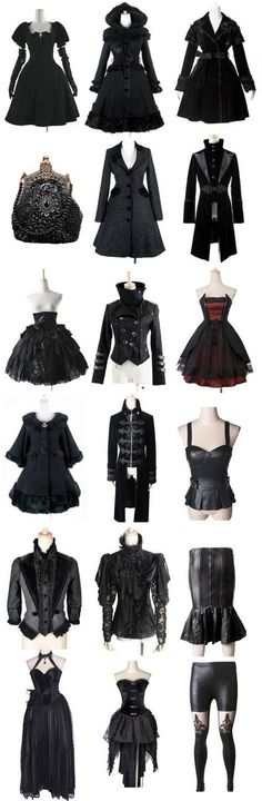 black outfit - steampunk Love this wish I could get some of them!! But some aren't my cup of tea....