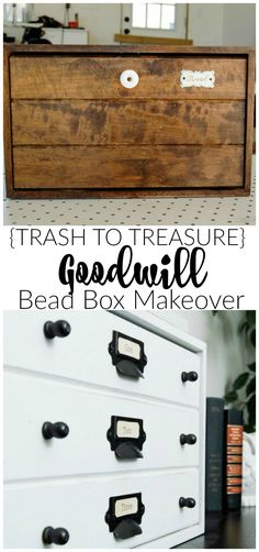{Trash to Treasure} A $5.00 Goodwill Bread box gets a specimen cabinet inspired makeover.