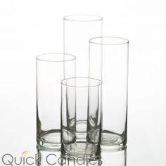 """Eastland Cylinder Vases 6"""" , 7.5"""", 9"""" & 10.5"""" Set of 48"""