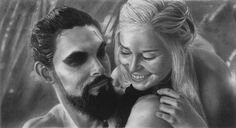 Khal Drogo and Khaleesi by YALIM1907.deviantart.com on @deviantART