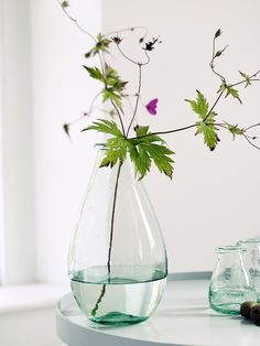 NEW Teardrop Recycled Glass Vase