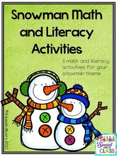This math and literacy snowman unit consists of 5 activities.  Snowman Tally: Children need to write the correct number for the number of tallies on the card.  Ten Frames: Children need to add the correct number of tiles to the 10 frames  Snowman Patterns: Children continue with the pattern strips or make their own.