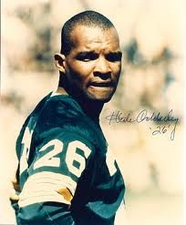 Green Bay Packers - Herb Adderley - Inducted to Pro Football Hall of Fame in 1980 - Played for Packers 1961 to 1969