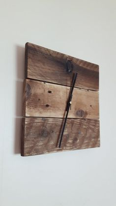 Wall Clock - Wooden Wall Clock - Reclaimed Wood Wall Clock - Square Clock - Pallet Wood Clock - Rustic Clock - Shabby Chic Clock Thank you for visiting my shop! You are currently my country shabby chi Wall Clock Wooden, Rustic Wall Clocks, Wood Clocks, Wood Wall, Clock Wall, Shabby Chic Clock, Shabby Chic Kitchen, Wooden Pallets, Pallet Wood