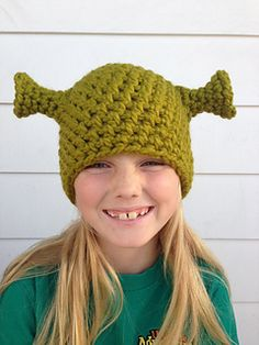 This tutorial will teach you how to crochet the Green Ogre Hat all on your own. This pattern was created for a Shrek costume for Shrek The Musical. This beanie would be great to use if your child is going to be Shrek for Halloween or for the Shrek Musical. It could also be worn around town for fun! It will surely keep your head warm, and get a ton of looks!!