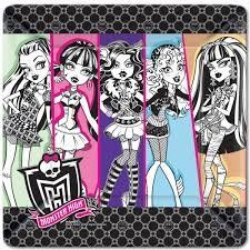 party planning decorations decorating inviting fun children celebrate party event yes so cute cheap adorable  happy birthday  solids solid thank you invitations  wedding husband wife baby  Monster High Luncheon Plates Monster High