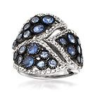 2.70 ct. t.w. Tanzanite and .90 ct. t.w. White Topaz Ring in Sterling Silver