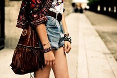 awesome indie style | fashion, girl, jeans, shorts, summer - inspiring picture on Favim.com ...