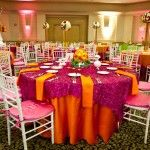 Obsessed with the bright colors of these linens by Linen Hero!