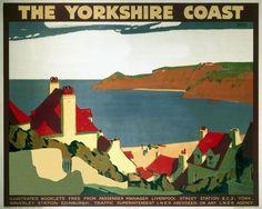 Johnson, Andrew -- 'The Yorkshire Coast', LNER poster, 1923-1947. -- High quality art prints, canvases, postcards -- memoryprints.com