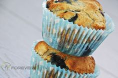 Paleo: Clean eating blueberry and ginger muffins