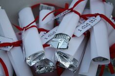 Graduation Party Ideas - diploma favors