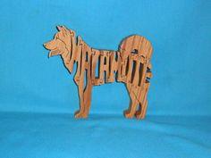 Malamute Dog Handmade Scroll Saw Wooden by huebysscrollsawart, $9.00