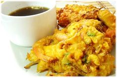 okoy (shrimp fritters)
