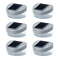 6 x SOLAR POWERED DOOR / FENCE / WALL LIGHTS LED OUTDOOR GARDEN LIGHTING Solalite http://www.amazon.co.uk/dp/B00BM9BTF8/ref=cm_sw_r_pi_dp_G9T6vb0HQJV99