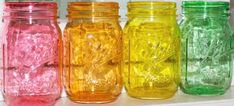Learn how to make these beautiful Translucent DIY Colored Mason Jars that look like colored glass you would purchase at a store.