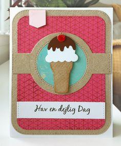Card ice cream cone icecream MFT Sweet Treats Die-namics, MFT Blueprints 31 Die-namics MFT Geometric grid background stamp Die-namics #mftstamps - JKE