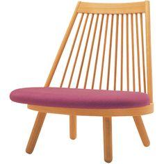 Kappei (Katsuhei) Toyoguchi - Recognized as one of Japan's pioneers of modern design. Japanese Furniture, Contemporary Furniture, Wood Furniture, Furniture Design, Low Chair, Scandinavian Modern, Japanese Design, Cool Rooms, Chair Design