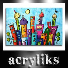 Acrylc painting on canvas - City Skyline
